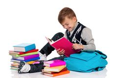 Boy with books Royalty Free Stock Photo