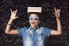 Boy with books Royalty Free Stock Image