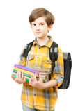 The boy with books Royalty Free Stock Photo