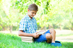 Boy with books Royalty Free Stock Photos
