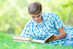 Boy with books Stock Photography