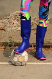 Boy with boots Stock Photos