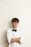 Boy with bow Stock Image