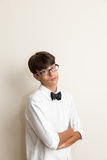 Boy with bow Royalty Free Stock Photo