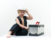 Boy with box Stock Photography