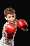Boy boxer Stock Photo