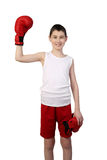 Boy boxer winner Royalty Free Stock Image