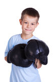 Boy in a boxing gloves Stock Photo
