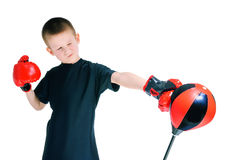 Boy in Boxing gloves Stock Photography