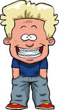 Boy with braces. The boy with braces on a white background vector illustration Stock Photography