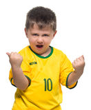 Boy Brazilian fans Stock Photography