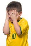 Boy Brazilian fans Stock Photos