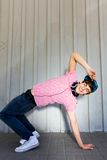 Boy breakdancing Royalty Free Stock Images