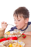 Boy breakfast Royalty Free Stock Photo