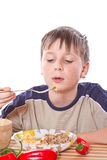 Boy breakfast Stock Image