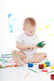 Boy with bright colors Royalty Free Stock Photo