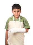 Boy with broken arm Royalty Free Stock Images