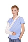 boy with a broken arm Stock Image
