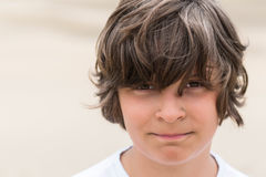 Boy with brown eyes Stock Images
