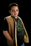 Boy with brown vest Royalty Free Stock Photo