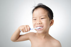Boy brush his tooth Royalty Free Stock Photo