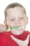 Boy brushing Stock Photography
