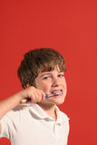 Boy brushing teeth 2 Stock Images