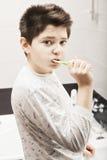 Boy brushing teeth Royalty Free Stock Image