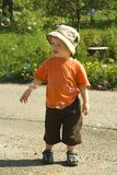 Boy and bubble. Royalty Free Stock Photography