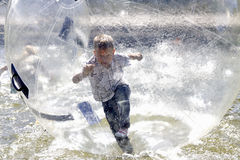 Boy and bubble Stock Images