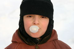 Boy and bubble gum Royalty Free Stock Images