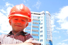 Boy builder Royalty Free Stock Image