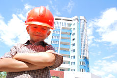 Boy builder Stock Image