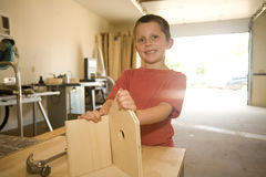 Boy builder stock photography