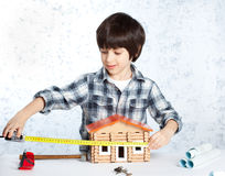Boy builder Royalty Free Stock Photos