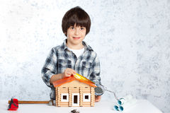 Boy builder Stock Photo