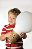 Boy with a bulb Royalty Free Stock Photography