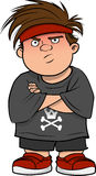Boy bully mean Royalty Free Stock Image