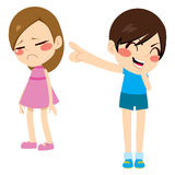 Boy Bullying Girl Royalty Free Stock Photo