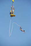 Boy Bungee jumping Royalty Free Stock Image