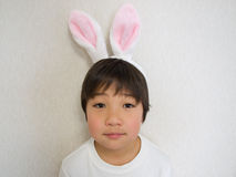 Boy in bunny ears Stock Photos