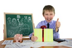 Boy is a business project Royalty Free Stock Images
