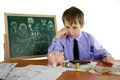 Boy is a business project Stock Image