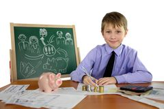 Boy is a business project Stock Images
