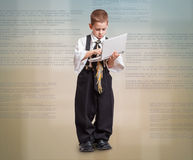 Boy in business suit Royalty Free Stock Photo