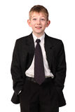 The boy in a business suit Royalty Free Stock Image