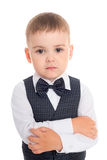Boy in a business suit and bow tie. Stock Photography