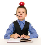 Boy in a business suit with diary Stock Images