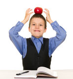 Boy in a business suit with diary Stock Photos