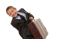 Boy Businessman 2 Stock Images